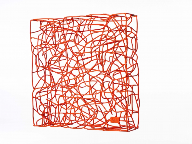 Wireless - Luminous Orange Glossy - 90 x 90 x 17 cm (3)